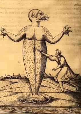 Monstro marinho que Pero de Magalhães Gândavo diz ter aparecido em São Vicente